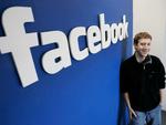 Facebook logo and CEO