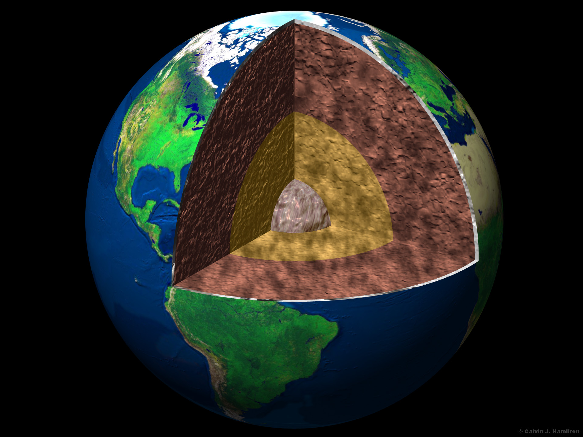 Cutaway View Of The Earth S Interior