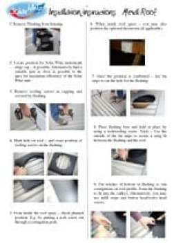 SolarWhiz Installation Instructions – Metal Roof