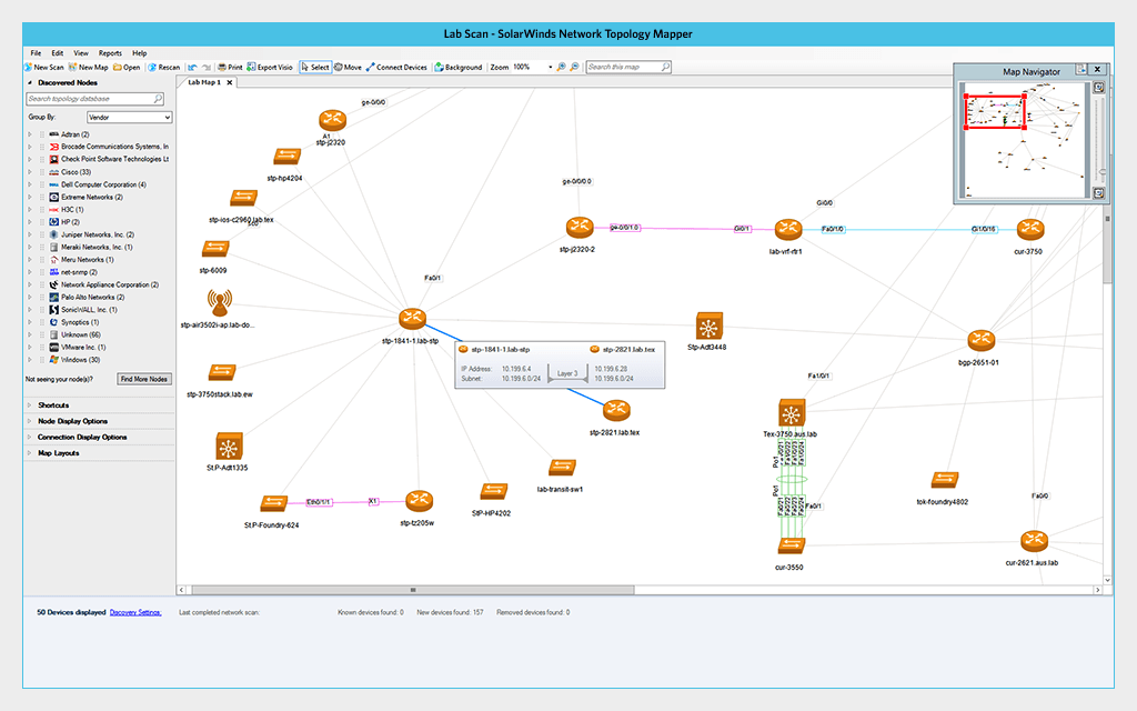 Network Mapping Software Network Topology Diagram SolarWinds