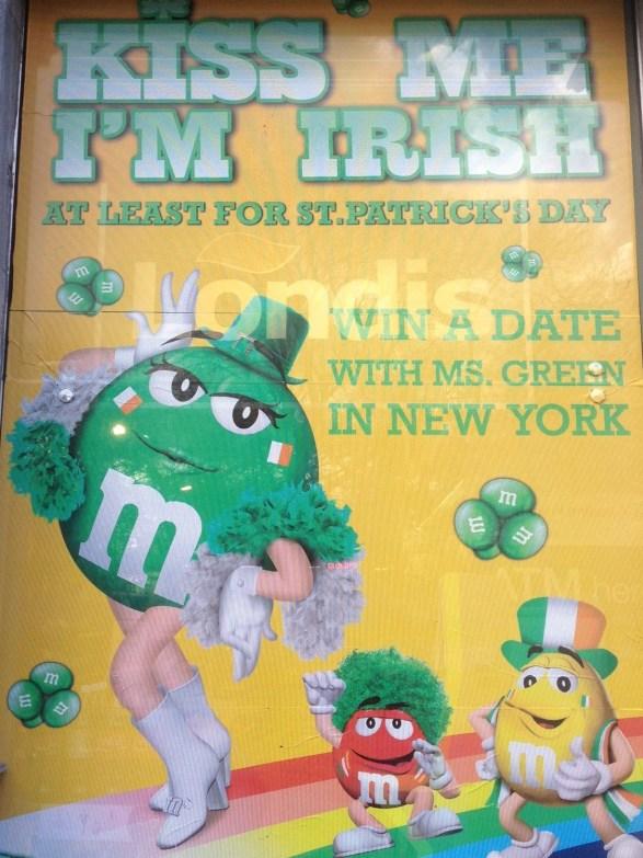 m&m's Saint Patrick