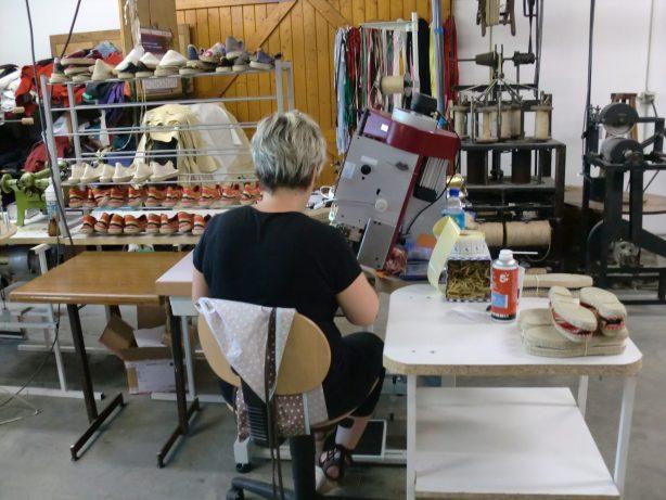 Fabrique artisanale espadrilles Mauléon