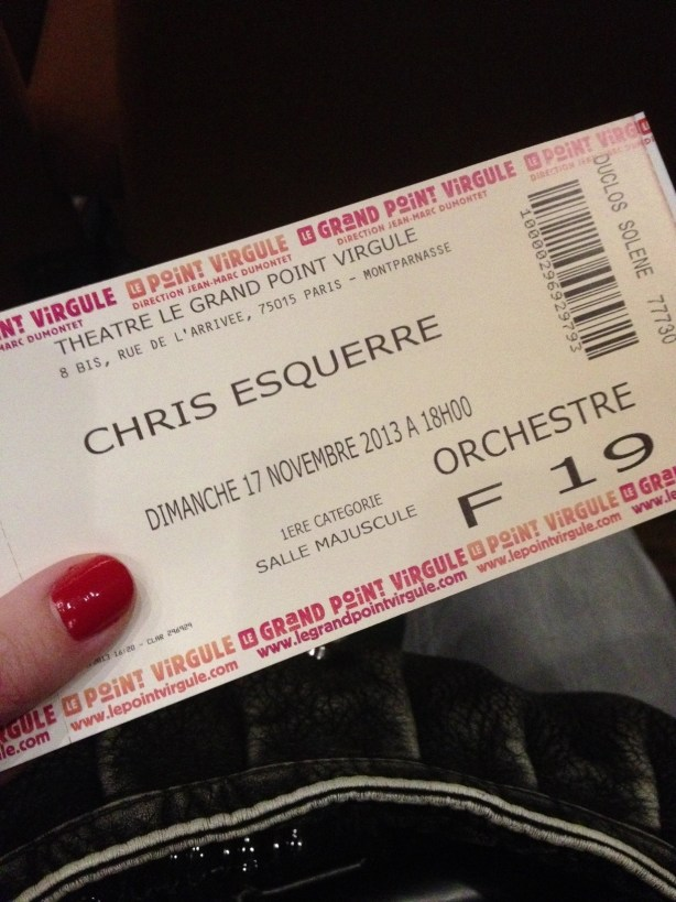 Spectacle Chris Esquerre