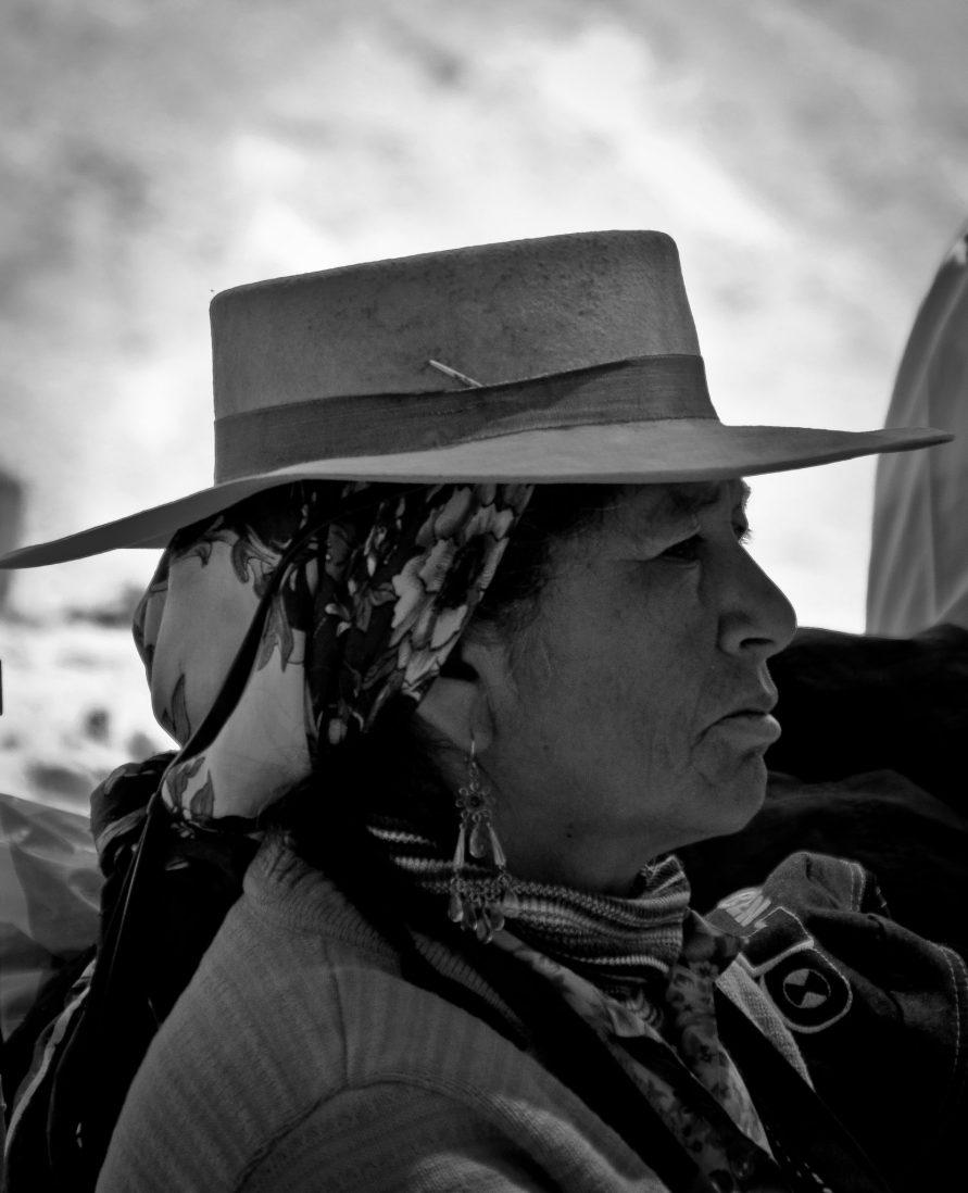 Femme argentine Salinas Grandes