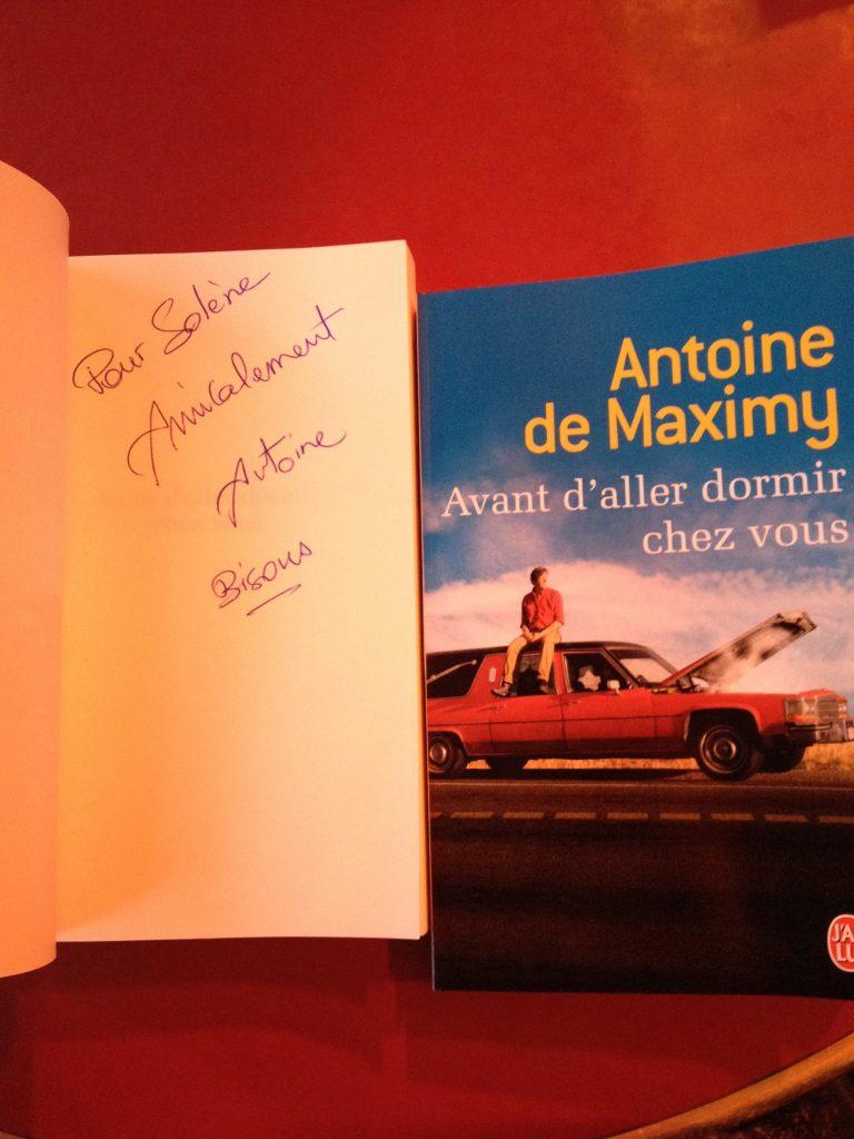 Dédicace Antoine de Maximy