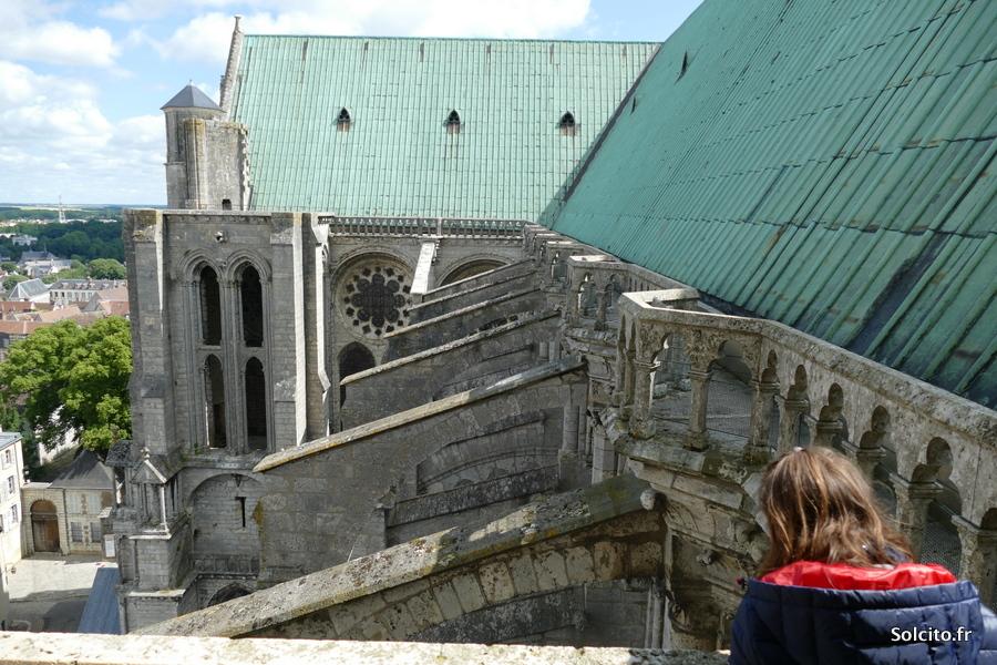Balade dans les combles de la cathédrale de Chartres