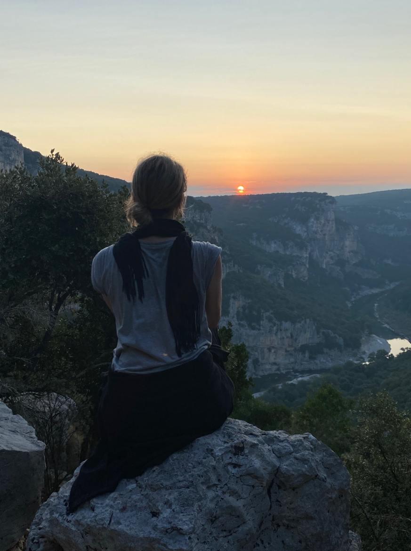 gorges de l'Ardèche sunrise