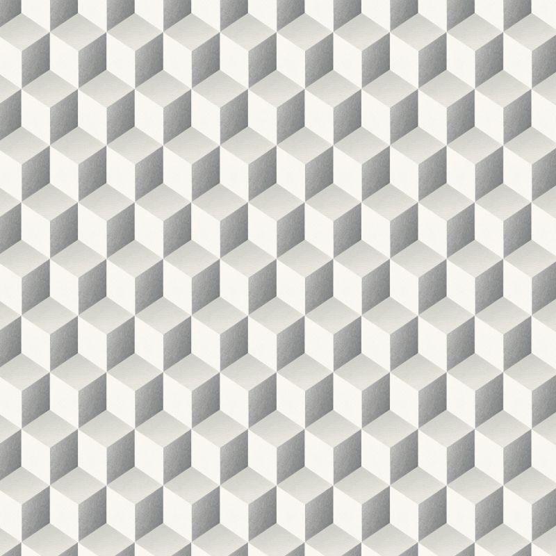 tapis canvas motifs geometriques gris