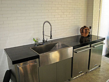 black concrete countertop