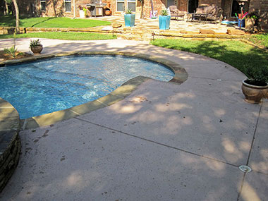 old pool deck that needs repair