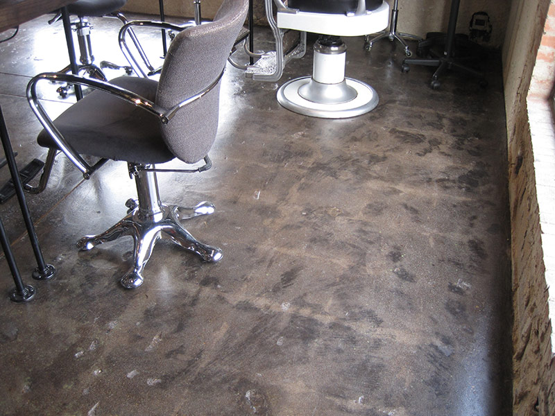 tile ghost image around barber chairs
