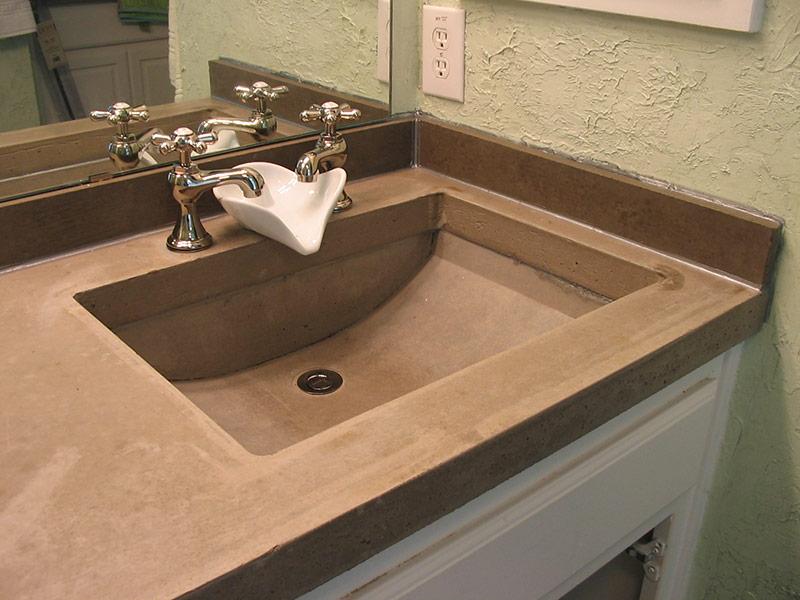 gray trough sink for bathroom