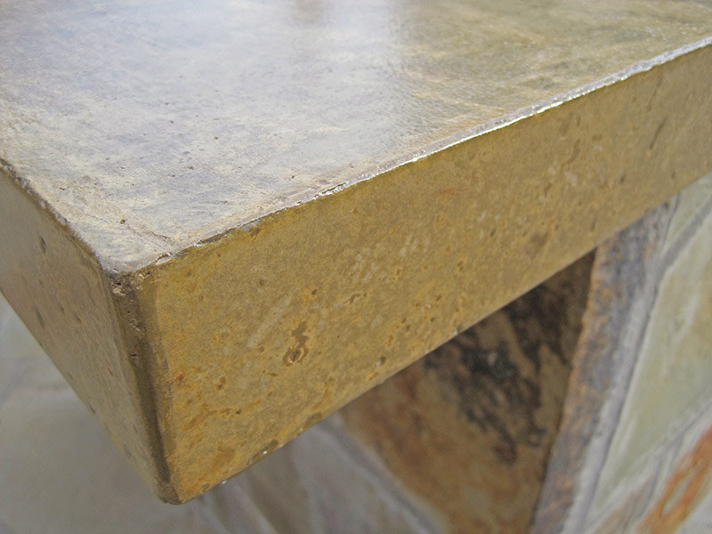 closeup of concrete countertop