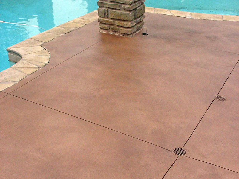another view of the skim coat on the pool deck