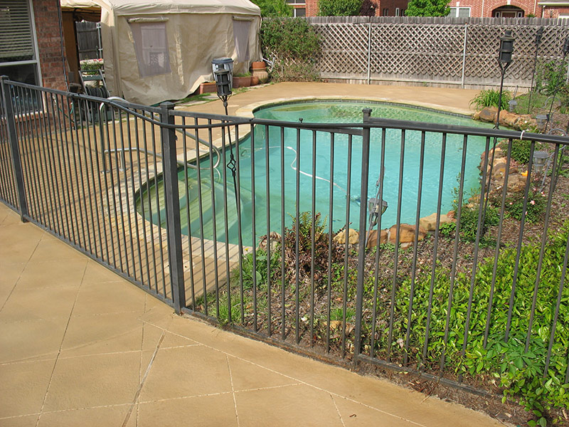 view of pool deck after applying a skim coat overlay