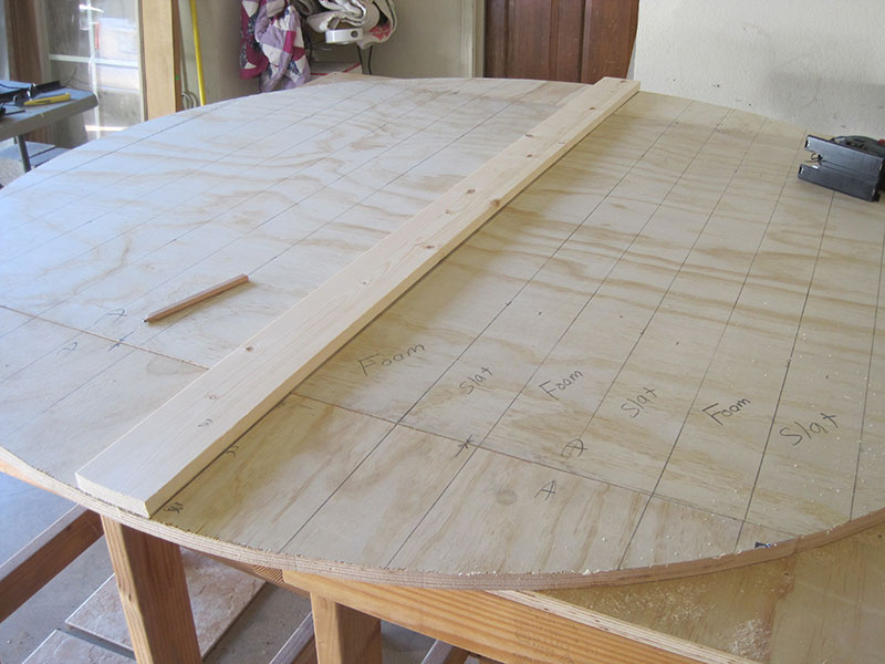 plywood base for the round table