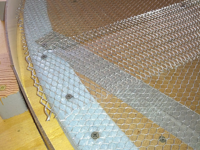 close up of metal lath