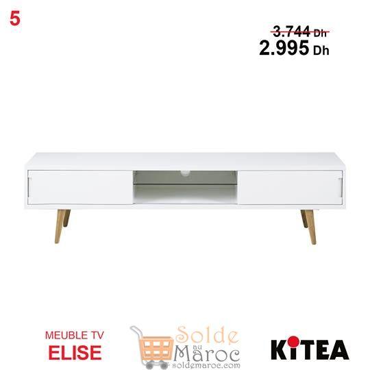 soldes kitea meuble tv elise blanc 2995