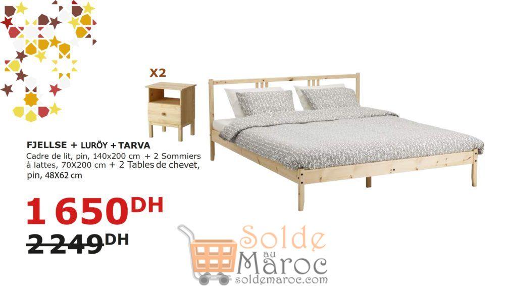 Soldes Ikea Maroc Cadre De Lit 2 Sommiers 2 Tables De