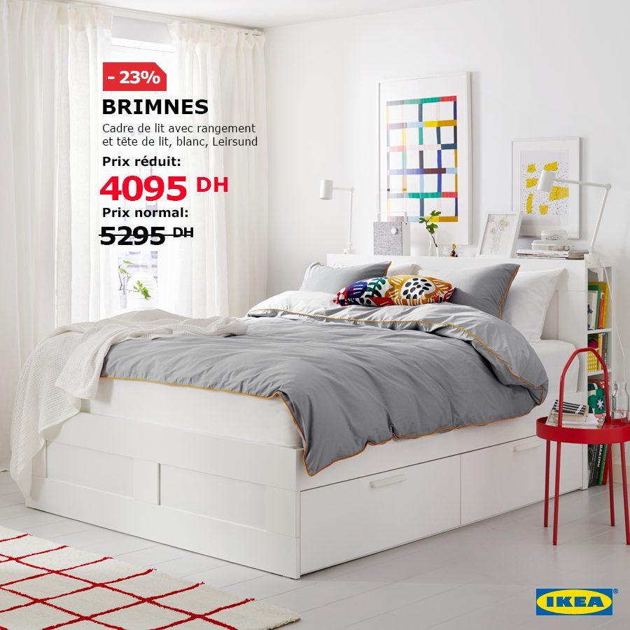 Soldes Ikea Maroc Cadre Et Tête De Lit Avec Rangement