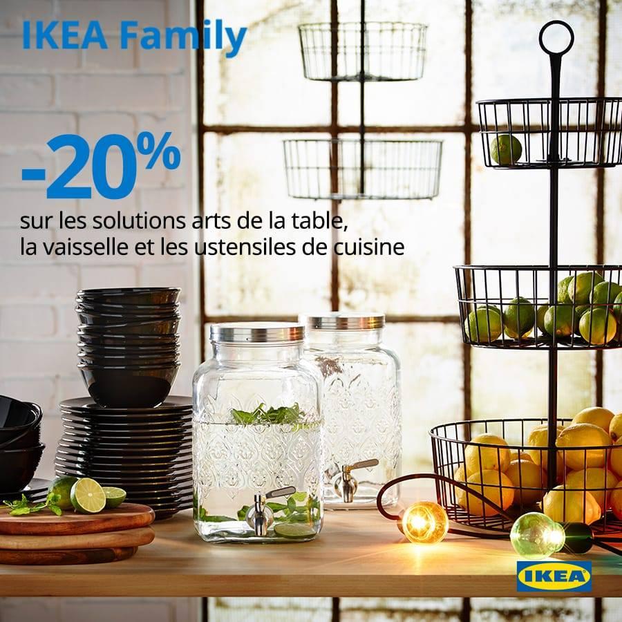 promo ikea family 20 sur les