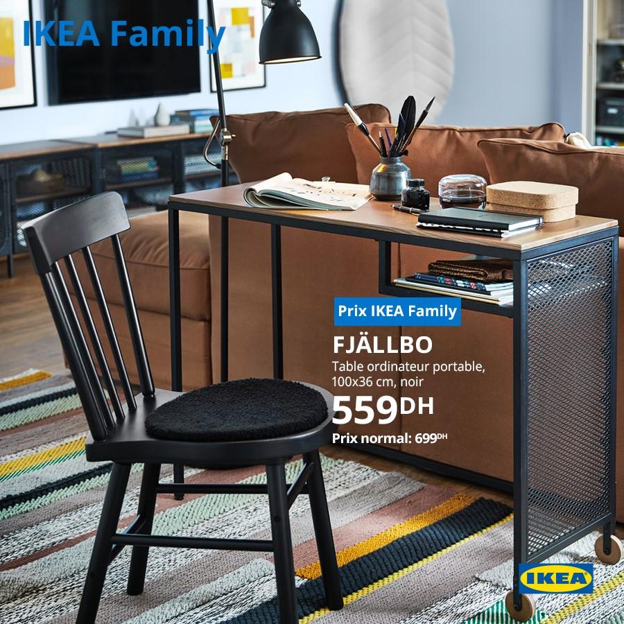 Soldes Ikea Family Table Ordinateur Portable Noir Fjallbo 599dhs Au Lieu De 699dhs