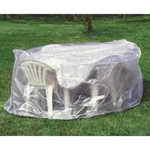 housse ronde table chaises jardin