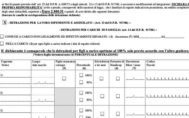 Detrazioni Familiari A Carico 2019 Moduli E Calcolo Soldioggi