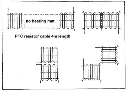 The low-cost Underfloor Undertile heating systems in the