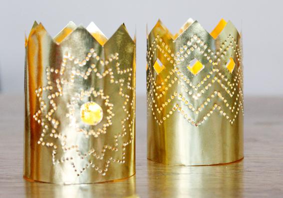 Weihnachtsdeko aus Papier Ein Kronleuchter in Gold  SoLebIchde