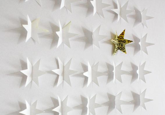 Weihnachtsdeko aus Papier Ein gerahmtes Sternenbild  SoLebIchde
