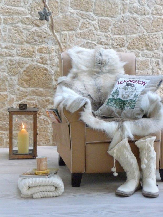 Fr die kalte Jahreszeit Winterdeko mit kuscheligen