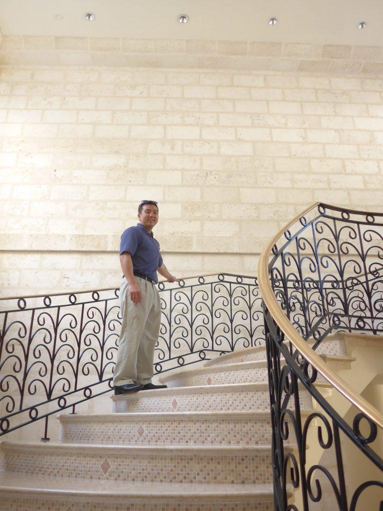 Staircase at Sandy Lane Hotel