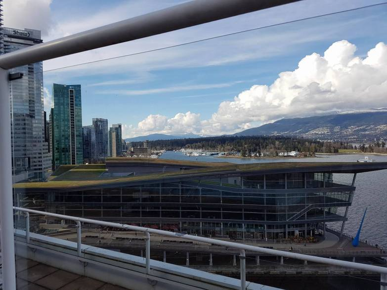 View from Pool at Pan Pacific Vancouver