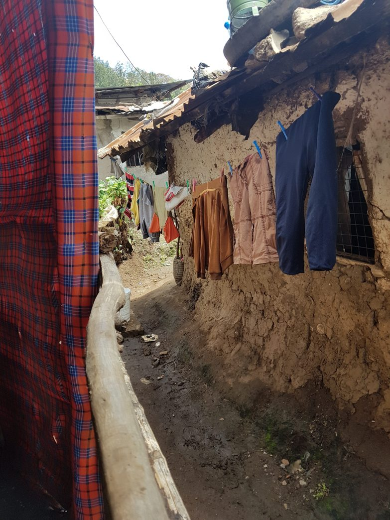Laundry hanging at Massai's Airbnb