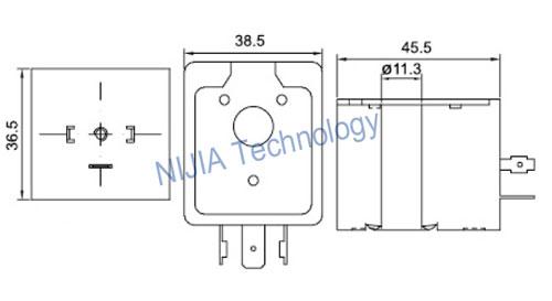 DIN43650A Asco Pulse Valve AC Solenoid Coil for SCG353A043
