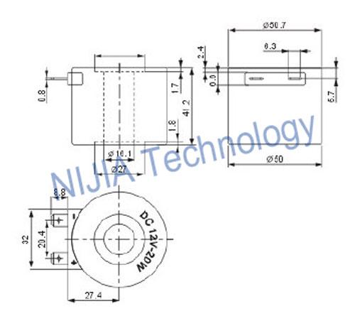 Landi Pressure Reducer Valve Coil Automotive Solenoid DC12