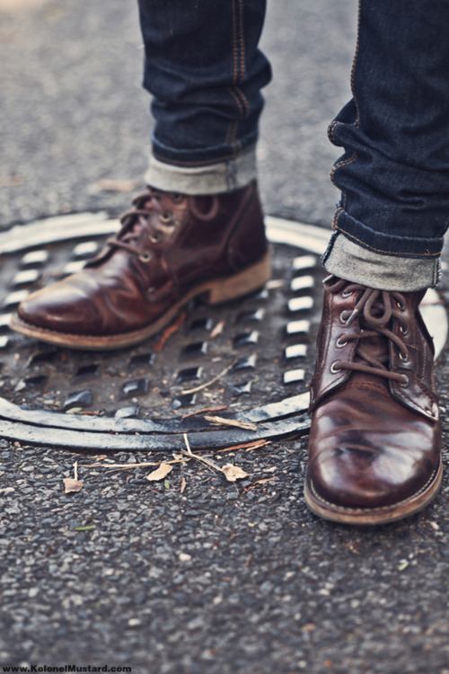 1950s Greaser Style  Rugged Boots  Cuffed Jeans  SOLETOPIA