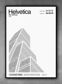 Typography Art with Helvetica, Futura & Garamond   SOLETOPIA
