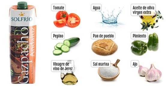 Ingrediente del gazpacho Solfrío