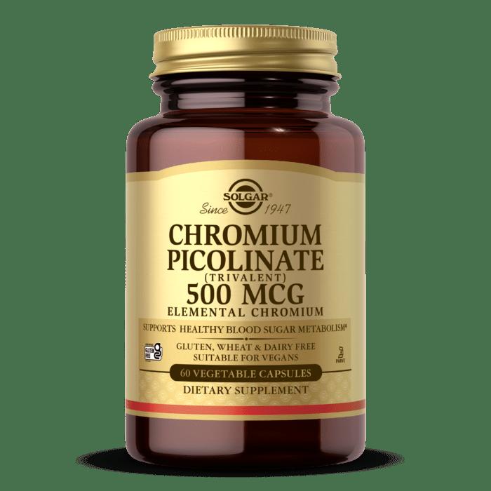 Chromium Picolinate 500 mcg Vegetable Capsules - Solgar