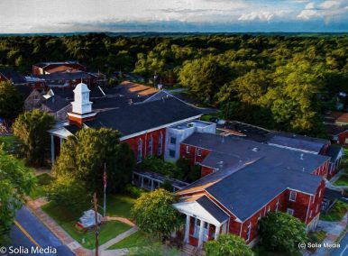 Solia Media is FAA Certified. Drone Shot of Rockdale County Government - Olde Town Conyers