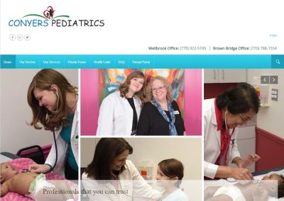 Solia Media Website for Conyers Pediatrics