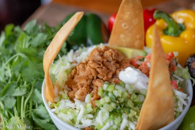 Solia Food Photography - Las Flores Olde Town Mex Taco Salad - Best in Conyers