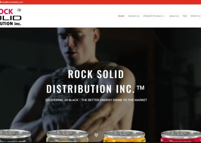 Solia Media Designs New Site for Rock Solid – Southeast US Distributor for 28 Black