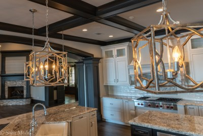 Preissless Design Interior Design - Lake Oconee property - - lighting in kitchen - photography by Solia Media
