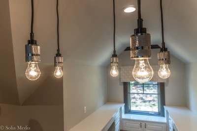 Preissless Design Interior Design - Lake Oconee property - custom lighting - photography by Solia Media