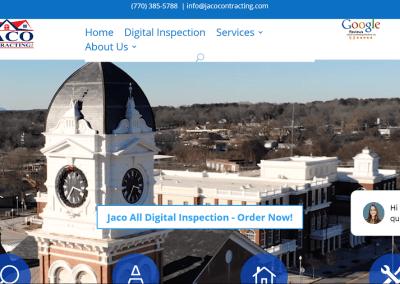 Solia Website for JACO Contracting, Covington and Savannah, GA