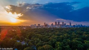 City of Atlanta Aerial - Beautiful Sunset - by Solia Media - Best Photography, Drone Services and Digital Media