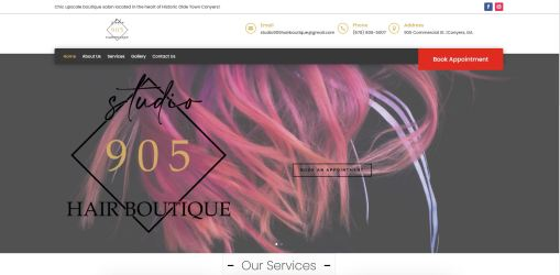 Solia Media Designs New Website for Olde Town Conyers' Studio 905 Hair Boutique